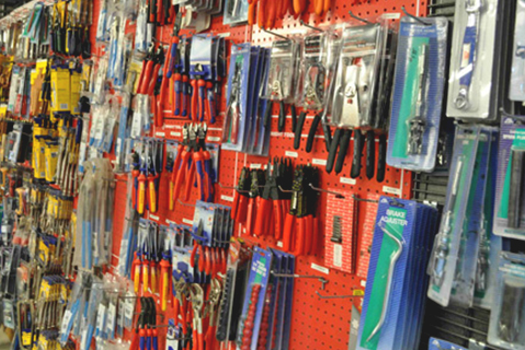 Tools on Store Shelf